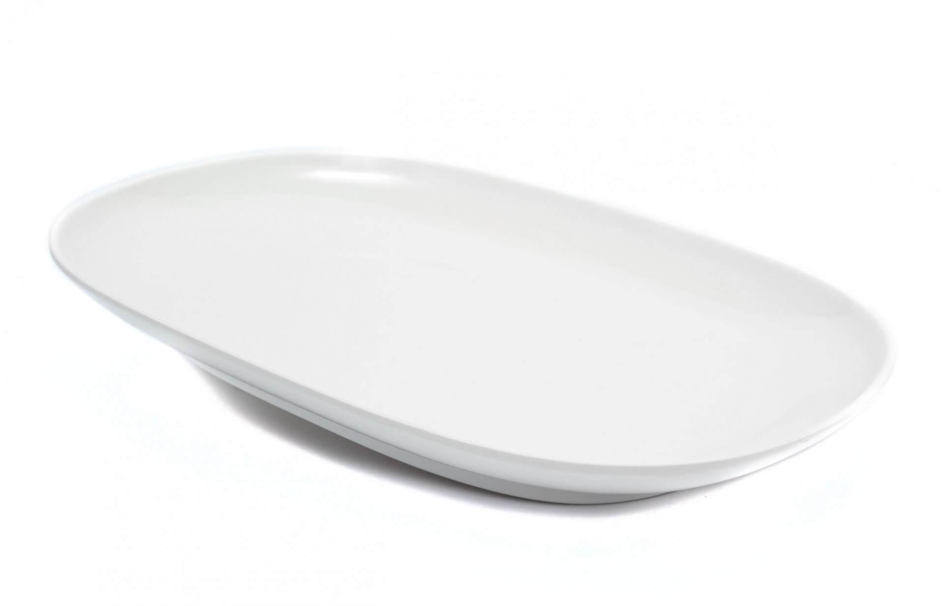 Купить блюдо овальное из меламина от компании Нормак, которое не бьется в стандартных условиях заведений HoReCa.